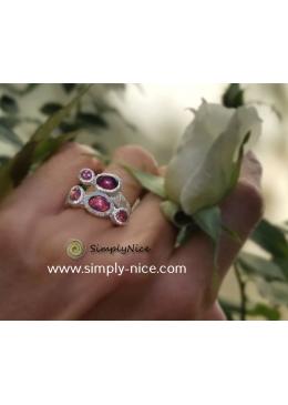 """Turmalin Pink Ring"